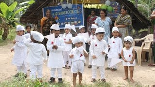 Jawaharlal Nehru's birthday we are celebrating as Childrens day in India.This children rally is  from a village nursery.