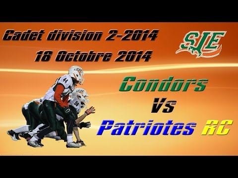 Saint Jean Eudes Condor VS Patriotes(RC) Cadet Div 2