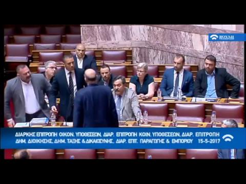 Σοβαρό επεισόδιο στη Βουλή με πρωταγωνιστή τον Ηλ. Κασιδιάρη