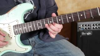 Blues Rock Lead Guitar Soloing Lesson - Repeating Lick Idea Taught by Marty Schwartz