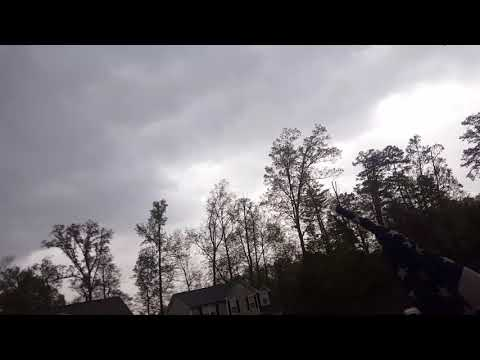 Tornado in Charlotte. Wind ripped off my neighbor's shutter