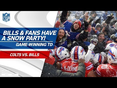 Video: Bills & Fans Have a Snow Party After Game-Winning TD! | Colts vs. Bills | NFL Week 14 Highlights