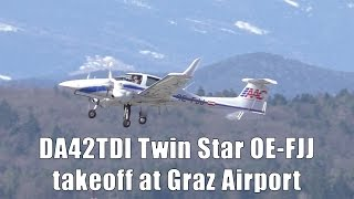 Austrian Aircraft CorporationFlughafen Graz 25.02.2017Takeoff Flughafen Graz  GRZ  LOWGRunway 17C, 3000m x 45m AsphaltDiamond Aircraft DA42TDI Twin StarOE-FJJLatest pictures and news also available on➤ http://www.facebook.com/aviationvideosgraz➤ http://www.twitter.com/aviation_graz➤ http://aviationvideosgraz.jimdo.com/equipment📷 Panasonic HC-V777EG-K, Velbon Videomate 638 tripod, 💿 Magix Video Deluxe 2016✈ Spotting position: observation deckfor all spotting places visit http://aviationvideosgraz.jimdo.com/graz-airport/spotting-places/Recorded in Full HD  1920x1080 50fps#DiamondAircraft*****Welcome to my YouTube channel AVIATION VIDEOS which is focused on planespotting around the world. Minimum of 4 daily uploads:1 video from my home airport Graz, Austria1 video from an international airport like Vienna, Zurich or Amsterdam1 video from an national airport like Graz or Vienna1 video of General & Business AviationFrom time to time there will be some specials like trip reports, full flight videos or tutorials.Feel free to subscribe, comment or like! If you have any questions send me an email📧 aviationvideos@gmx.at