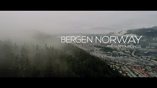 Bergen in Noorwegen from Above
