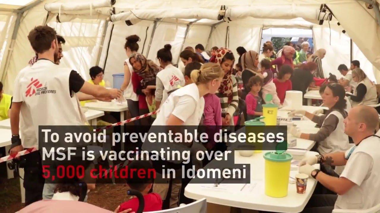 Εμβολιασμοί από τους Γιατρούς Χωρίς Σύνορα στην Ειδομένη (Eng)