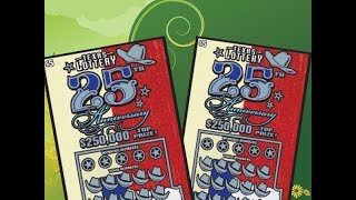 Scratching 2 X $5 25th Anniversary Texas Lottery Scratch Off Tickets. Will I find a big win? Stay tuned. Join me on Facebook: https://www.facebook.com/TexanCandy/    Fan Mail:Candy PO Box 241763San Antonio, TX 78224