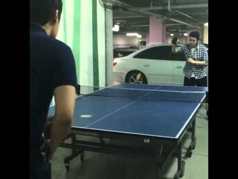 140705 MBLAQ Seungho vs Seunghoon - Table Tennis Warming-up 엠블랙 승호 (видео)