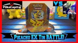 Pokemon Cards - Pikachu EX Battle Heart Tin Opening Battle vs The Pokemon Evolutionaries by ThePokeCapital