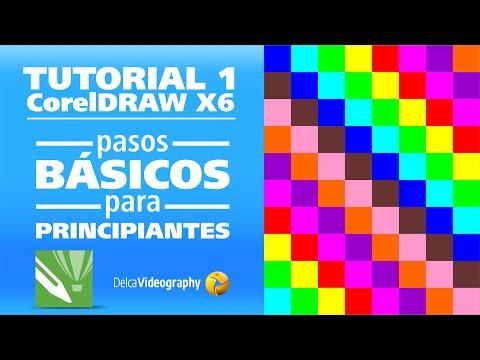 TUTORIAL 1 en Español: Curso CorelDRAW X4, X5 y X6 para principiantes, tips básicos