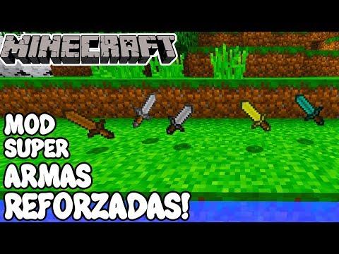 Minecraft 1.12.2 MOD SUPER ARMAS REFORZADAS! Reinforced Diamond Sword Mod Español!