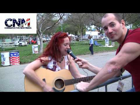 Conservative New Media - Conservative Singer Celeste Paradise Sings Song for Conservative New Media at The Pleasanton Tea Party.