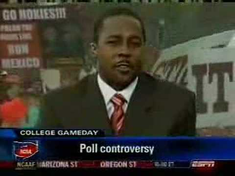 AOTM - See a national Assault on the Media College Football style. ESPN College Gameday from Blacksburg, VA on 9/24/05.