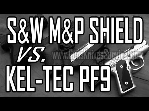 Kel Tec PF9 vs. S&W M&P Shield: Concealed Carry 9mm Pistol Comparison Part 1