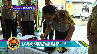 KAPOLDA RESMIKAN RUKAN BHABINKAMTIBMAS DI WILAYAH POLRES PANGKALPINANG #TRIBRATA NEWS