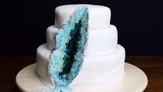 How To Decorate A Geode Cake by Tasty
