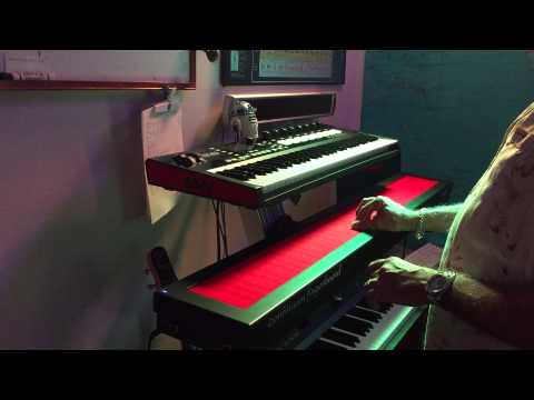 Alex Keyboards playing the Haken Continuum Fingerboard.