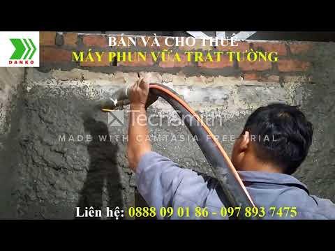 Trát tường cực nhanh với máy phun vữa trát tường NPL - G6