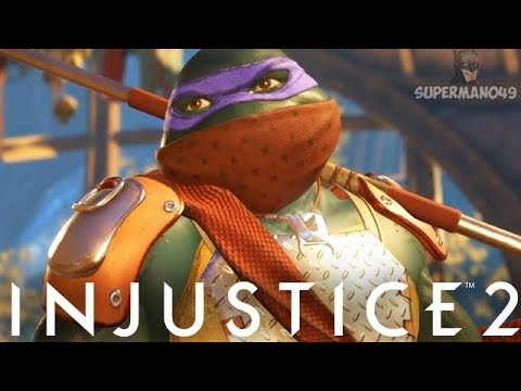 Injustice 2: Ninja Turtles Gameplay Epic Gear, Super Move & Abilities! - Injustice 2
