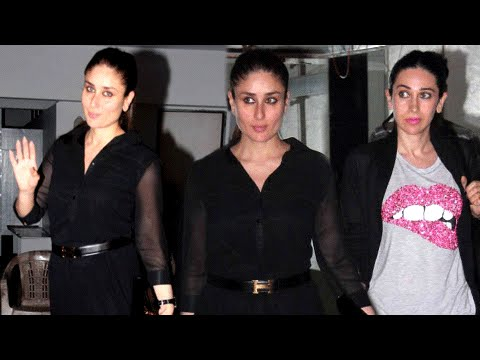 Pregnant Kareena Kapoor Parties Hard In Black Dres
