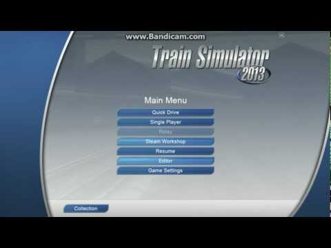 The main menu of TS2013