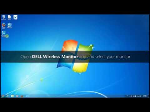 How to connect Windows 7 PC to DELL Wireless Monitor