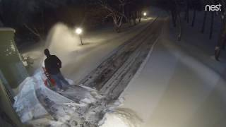 "1. Hitting 8"" of snow with my Ariens 28 SHO snowblower - time lapse video!"
