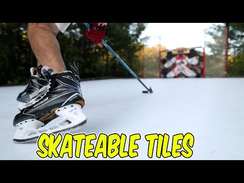 Hockey Tiles You can Skate on! Revolution Tiles Review (видео)