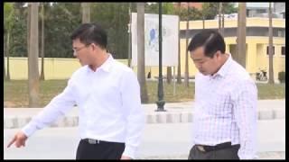 Đồng chí Nguyễn Mạnh Hà, Chủ tịch UBND thành phố kiểm tra thi công Quảng trường 25-2