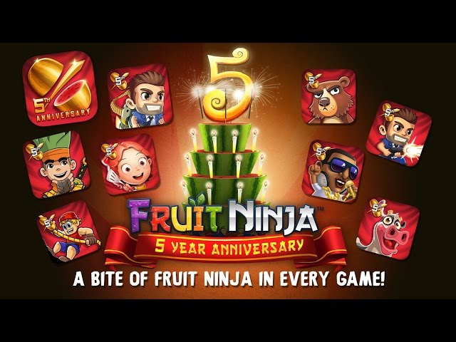 Fruit Ninja 5 Year Anniversary Celebration!