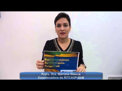 Campanha RITCASP Artigo 50 LRF Mariana Guerra Coordenadora RITCASP/UnB