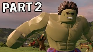 "LEGO Marvel Avengers Walkthrough Part 2 Gameplay - Chapter 2 ""HULK Free Roam Unlocks"" (PS4/Xbox/PC)"