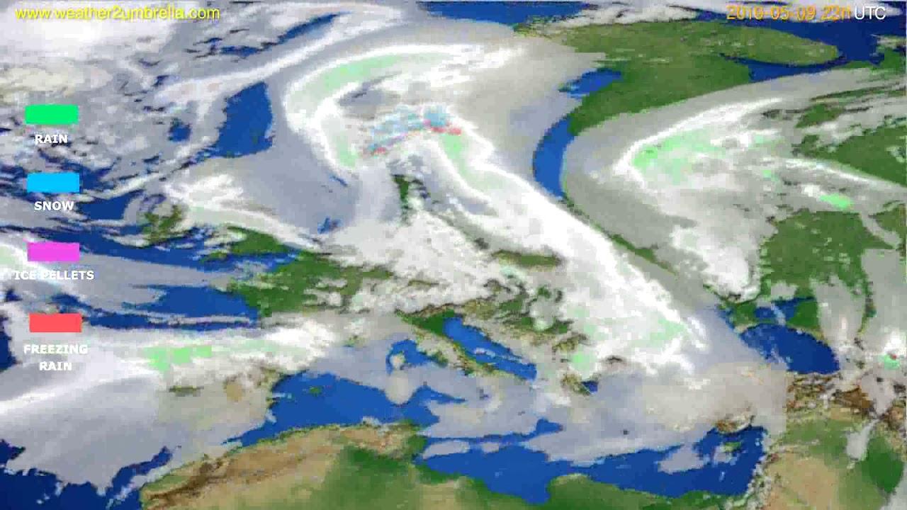 Precipitation forecast Europe // modelrun: 12h UTC 2019-05-06