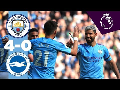 Video: HIGHLIGHTS | Man City 4-0 Brighton | De Bruyne, Aguero (2), Bernardo Silva