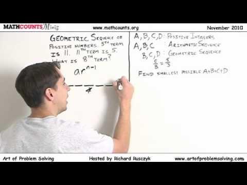 MATHCOUNTS Mini # 12 - Arithmetische und geometrische Folgen
