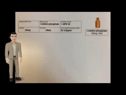 Drug Calculations Fluid Dosage 30mg codeine phosphate Q & A TET