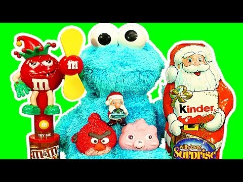 surprise - Unboxing / unwrapping 3 amazing Kinder Surprise Santa Claus with 3 beautiful surprise toys because Cookie Monster loves Kinder surprise toys. Diesel 10 opens...