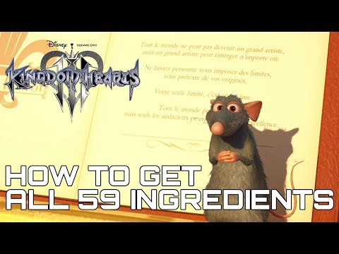 Kingdom Hearts 3 ALL 59 INGREDIENT LOCATIONS (HOW TO GET ALL 59 INGREDIENTS)