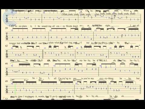 Electric Guitar TABS - Baby I - Ariana Grande - Sheet Music, Chords, & Vocals