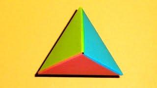 Оригами пирамида Многогранник из бумаги