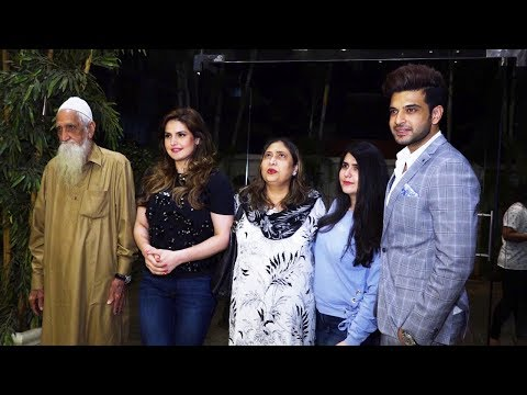 Zareen Khan With Her Family Spotted At Special Screening Of Film 1921