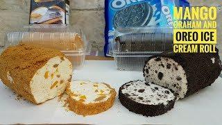 Video Mango Graham Ice cream Roll and Oreo Ice cream roll (Summer Idea) MP3, 3GP, MP4, WEBM, AVI, FLV April 2019