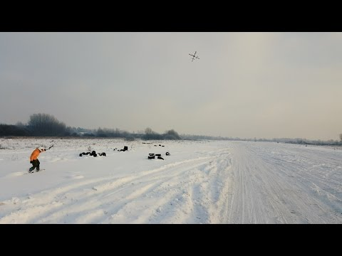 Another Snowboarders Pulled By Quadrocopter