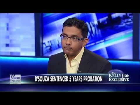d'souza - In an exclusive interview with Megyn Kelly on Wednesday night, D'Souza spoke out about his sentencing earlier that day in New York City.