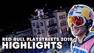 Slopestyle Skiing In Fairytale City | Red Bull PlayStreets 2019 Highlights by Red Bull