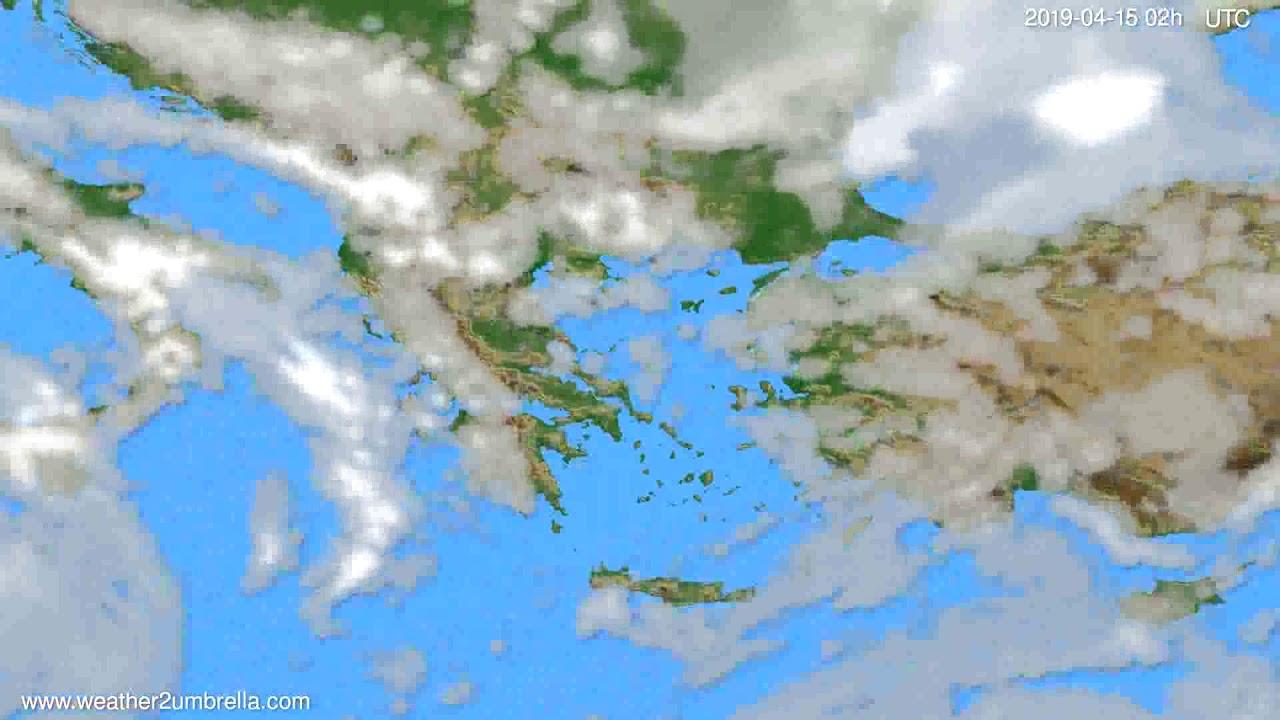 Cloud forecast Greece // modelrun: 00h UTC 2019-04-13