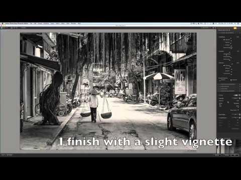 Black and White Street Photography Workflow - Hanoi
