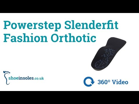 Powerstep Slenderfit Fashion Orthotic Insoles 360° Video