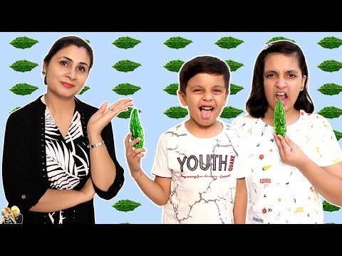 KARELA CHALLENGE #HEALTHY EATING | Good Habits Moral Story | Aayu And Pihu Show