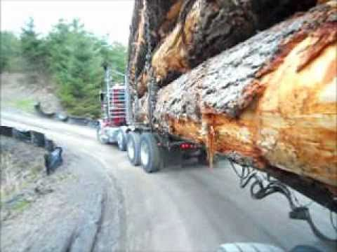 Super loud Peterbilt 550 Cat with Jake screaming down Sumas Mt.