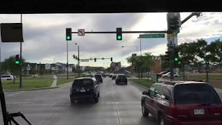 Time laps footage of the entire way to down town. The way was through old Denver airport.